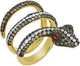 Noir Women's Snake Savage Ring