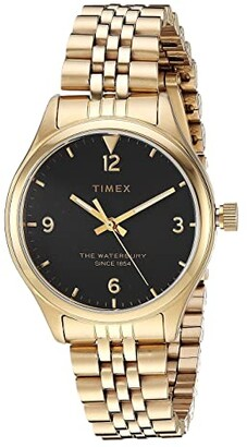 Timex Waterbury Traditional 3-Hand (Gold/Black) Watches