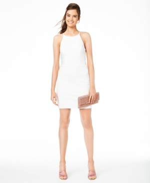 B. Darlin Juniors' Halter Ladder-Side Dress, Created for Macy's