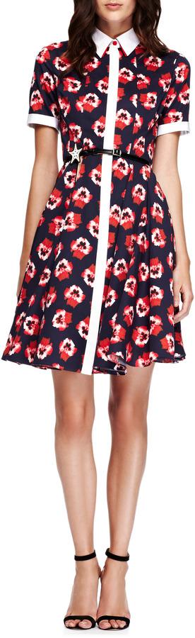 Prabal Gurung Floral-Print Cotton Shirtdress