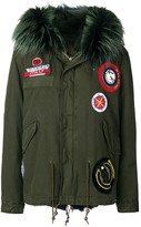 Mr & Mrs Italy Parka Coat With Patch Appliques