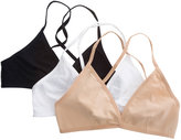 American Apparel Cotton Spandex Jersey Cross-Back Bra (3-Pack)