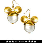 Gogo Philip Disney Exclusive To ASOS Mickey Mouse Drop Pearl Earrings