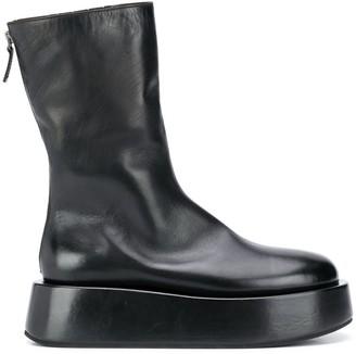 Marsèll Platform Sole Rear Zip Boots