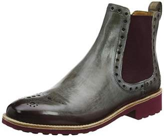 Melvin & Hamilton MH HAND MADE SHOES OF CLASS Women's Amelie 8 Chelsea Boots, Braun (Brown Crust-Morning Grey (Shade Deep Pink)-Elastic Lining-Rich Tan-Insole Leather-Rooko D-Burgundy)