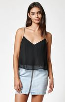 KENDALL + KYLIE Kendall & Kylie Pleated Woven Cami Tank Top