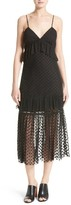 Robert Rodriguez Women's Polka Dot Lace Midi Dress