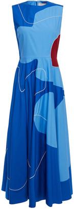 Roksanda Paneled Cotton-poplin Midi Dress