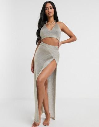 South Beach Sheer Knitted Maxi Skirt