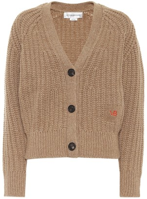 Victoria Beckham Ribbed knit wool and cashmere cardigan