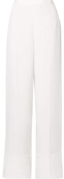 Stella McCartney Silk Crepe De Chine Wide-leg Pants - Ivory