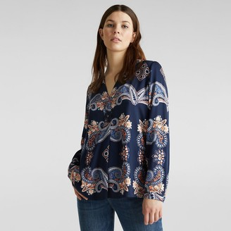 Esprit Paisley Print Blouse with V-Neck
