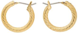 Laura Lombardi Gold Mini Etched Hoop Earrings