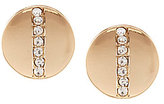 Anne Klein Circle Back Crystal Stud Clip-On Earrings