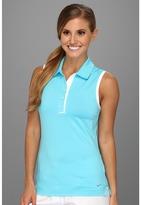 Nike Novelty Sleeveless Polo (Gamma Blue/White) - Apparel