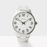 Paul Smith Men's White And Silver 'Tempo' Watch
