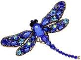 MGStyle Corsage Lapel Pin Brooch Dragonfly Rhinestone Copper