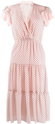 Philosophy di Lorenzo Serafini Polka-Dot Flared Dress