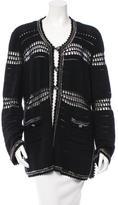 Chanel Embellished Open Knit Cardigan