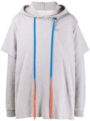 Off-White oversized logo print hoodie