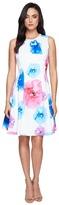 Calvin Klein Floral Fit & Flare Dress CD7M5V3Q
