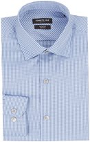 Kenneth Cole New York Non-Iron Slim-Fit Spread Collar Checked Dress Shirt