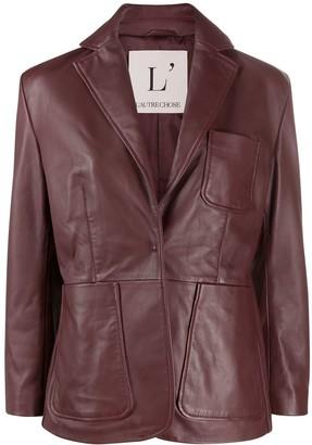 L'Autre Chose Single-Breasted Jacket