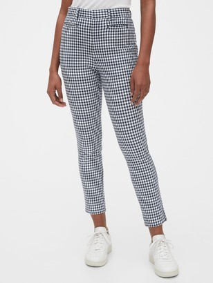 Gap High Rise Gingham Signature Skinny Ankle Pants