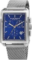 Akribos XXIV Men's Quartz Stainless Steel Watch, 34mm