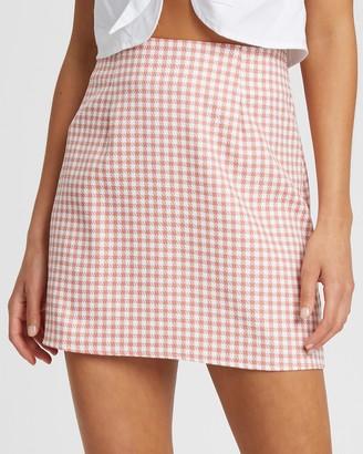 Calli Jade Mini Slip Skirt