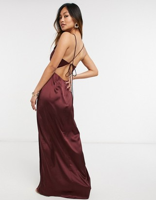 Steele Kaydon maxi dress in brown