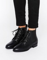 Boohoo Lace Up Work Boot