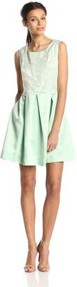 Erin Fetherston Erin Women's Hayley Floral Organza Fit and Flare Dress