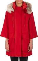 Nina Ricci WOMEN'S FUR-TRIMMED WOOL HOODED COAT
