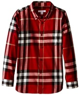 Burberry Exploded Scale Check Shirt Boy's Long Sleeve Button Up