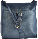 Tignanello Pebble Leather RFID Crossbody with Buckle Detail