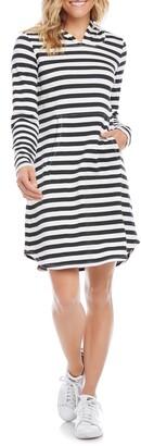 Karen Kane Karen Karen Stripe Long Sleeve Hoodie Dress