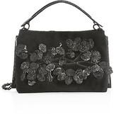 Thumbnail for your product : Nancy Gonzalez Viviana Floral Crocodile Top Handle Bag