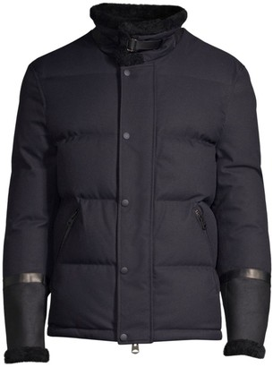 Mackage Edmund Shearling-Trim Puffer Jacket