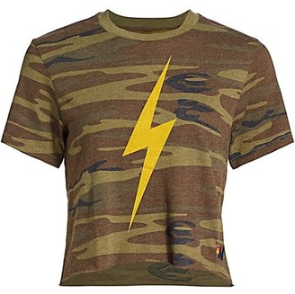 Aviator Nation Camo Print Bolt T-Shirt