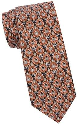 Salvatore Ferragamo Horseshoe-Print Silk Tie