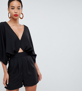 Asos Tall ASOS DESIGN tall romper with kimono sleeve and cutout