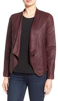 BB Dakota Women's 'Wyden' Drape Front Leather Jacket