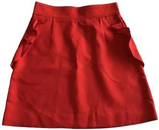 Sandro Fall Winter 2018 Red Cotton Skirt for Women