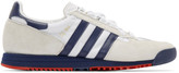 adidas White and Navy SL 80 Sneakers