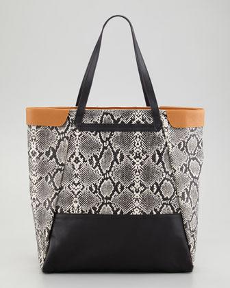 Be & D Nixie Tote Bag, Black/White