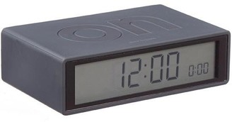 Lexon Lcd Alarm Clock Flip On Off In Black