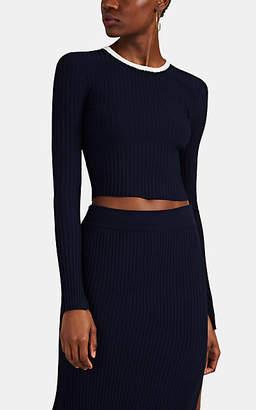 A.L.C. Women's Hughes Rib-Knit Crop Sweater - Navy