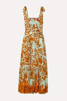 Johanna Ortiz My Kind Of Rainforest Embellished Printed Crepon Maxi Dress - Brown