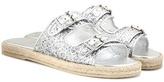 Saint Laurent Glitter-embellished Sandals